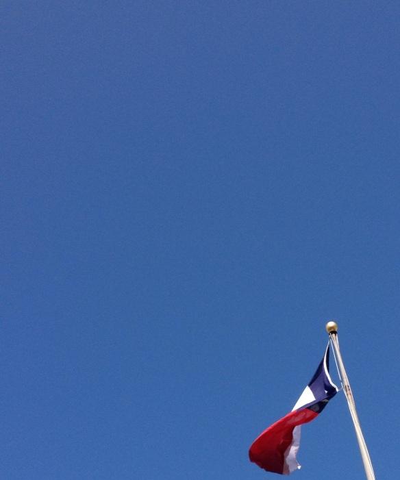 Blue sky, sunshine, February in Texas
