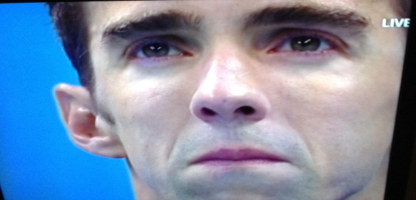michael phelps teary-eyed